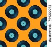 seamless abstract vector...   Shutterstock .eps vector #744300073