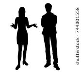 vector silhouettes of man and... | Shutterstock .eps vector #744301558