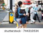 london  uk   august 24  2016 ... | Shutterstock . vector #744310534