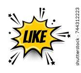 lettering like boom. comics... | Shutterstock . vector #744312223