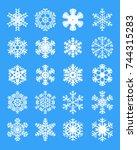 set of different white... | Shutterstock .eps vector #744315283