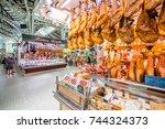 valencia  spain   august 19 ... | Shutterstock . vector #744324373
