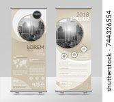 business roll up design... | Shutterstock .eps vector #744326554