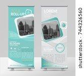 business roll up design... | Shutterstock .eps vector #744326560