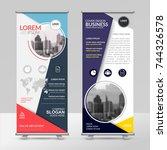 business roll up design... | Shutterstock .eps vector #744326578