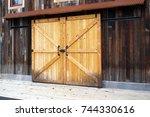 Wooden Door On Sliding Rails