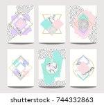 vector trendy brochure... | Shutterstock .eps vector #744332863