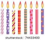 vector set of colorful birthday ... | Shutterstock .eps vector #74433400