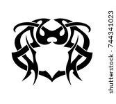 tribal tattoo art design... | Shutterstock .eps vector #744341023