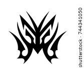 tribal tattoo art design... | Shutterstock .eps vector #744341050