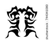 tribal tattoo art design... | Shutterstock .eps vector #744341080