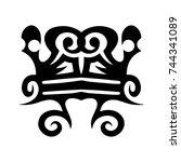 tribal tattoo art design... | Shutterstock .eps vector #744341089