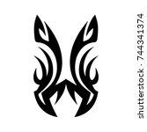 tribal tattoo art design... | Shutterstock .eps vector #744341374