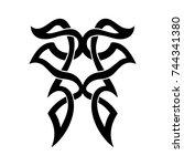 tribal tattoo art design... | Shutterstock .eps vector #744341380