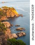 nice detail from costa brava... | Shutterstock . vector #744343339