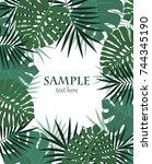 vector illustration of palm... | Shutterstock .eps vector #744345190