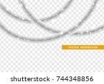 christmas traditional... | Shutterstock .eps vector #744348856