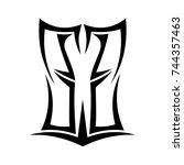 tattoo designs. tattoo tribal... | Shutterstock .eps vector #744357463