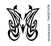 tattoo designs. tattoo tribal... | Shutterstock .eps vector #744357478