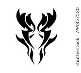 tattoo designs. tattoo tribal... | Shutterstock .eps vector #744357520