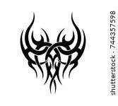 tattoo designs. tattoo tribal... | Shutterstock .eps vector #744357598