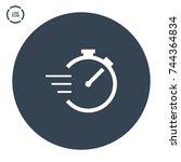 stopwatch line vector icon | Shutterstock .eps vector #744364834