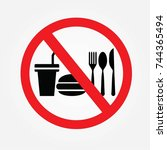 no cooking sign.no food or... | Shutterstock .eps vector #744365494