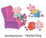 Three Little Cute Pigs.. Fairy...