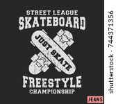t shirt print design.... | Shutterstock .eps vector #744371356