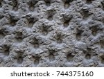 heavy textured exterior wall... | Shutterstock . vector #744375160