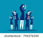 business vision. business team... | Shutterstock .eps vector #744376240