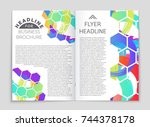 abstract vector layout... | Shutterstock .eps vector #744378178