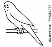 budgerigar parrot bird | Shutterstock .eps vector #744381799