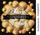 abstract vector black friday... | Shutterstock .eps vector #744384970
