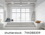 bright photo studio interior... | Shutterstock . vector #744388309