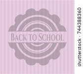 Back To School Badge With Pink...