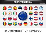 flags of european union and... | Shutterstock .eps vector #744396910