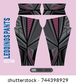 leggings pants fashion vector... | Shutterstock .eps vector #744398929