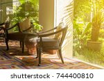 the building lobby or living...   Shutterstock . vector #744400810