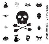 crossbones   death skull ...   Shutterstock .eps vector #744401809