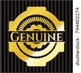 genuine golden emblem | Shutterstock .eps vector #744402274