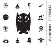 owl icon. set of halloween