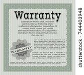 green formal warranty... | Shutterstock .eps vector #744403948