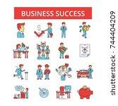 business success illustration ... | Shutterstock .eps vector #744404209