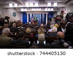 white house press secretary... | Shutterstock . vector #744405130