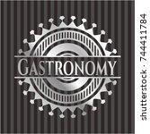 gastronomy silver emblem or... | Shutterstock .eps vector #744411784