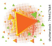 colorful abstract geometric... | Shutterstock .eps vector #744417664
