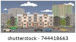 crossroads in the city street....   Shutterstock .eps vector #744418663