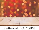 christmas holiday background... | Shutterstock . vector #744419068
