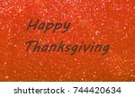 happy thanksgiving greeting on...   Shutterstock . vector #744420634